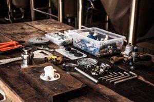 Profesjonalne narzędzia w zakładzie