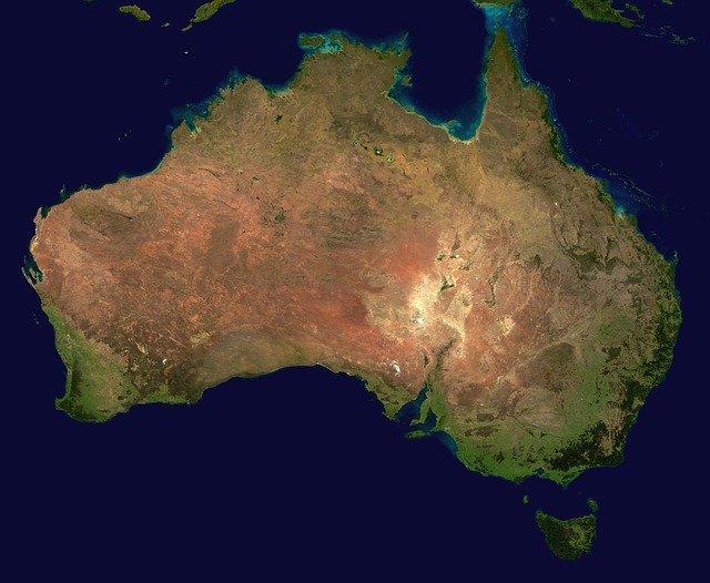 Zdjęcie satelitarne Australii